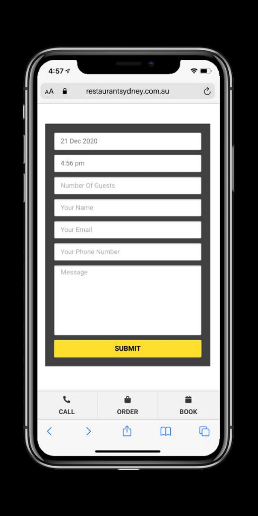 restaurant-sydney-sample-phone-booking